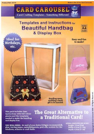 Handbag Gift Box Template From Card Carousel